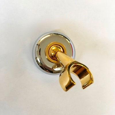 Βάση – στήριγμα τοίχου, χρωμέ-χρυσό από τη Zucchetti