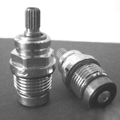 Μηχανισμός περιστροφικός, ζεστό – κρύο για κλασικές μπαταρίες Zucchetti με 2 χερούλια, σε κουτί των 2 τμχ.