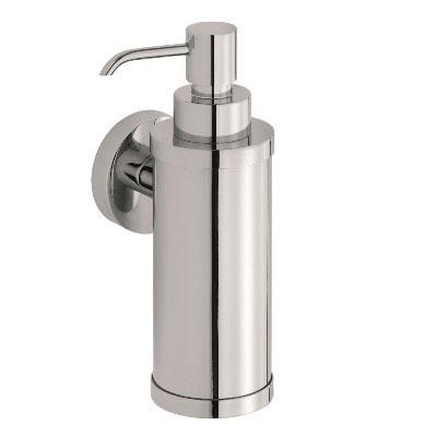 Dispenser PT07 από τη DEMM. Μεταλλικό δοχείο για υγρό κρεμοσάπουνο. Δυνατότητα επιτοίχιας τοποθέτησης.
